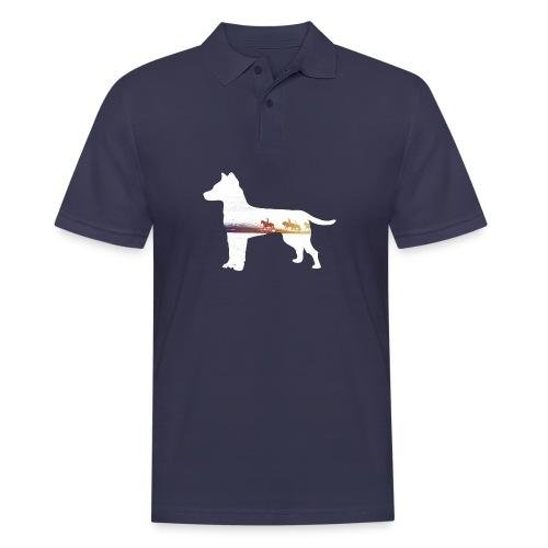 Hund-Ausritt - Männer Poloshirt