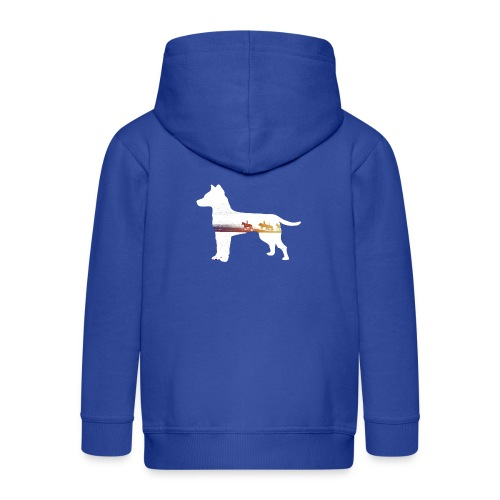 Hund-Ausritt - Kinder Premium Kapuzenjacke