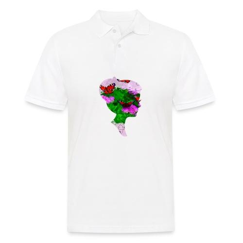 Schmetterling-Dame - Männer Poloshirt