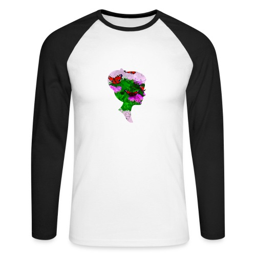 Schmetterling-Dame - Männer Baseballshirt langarm