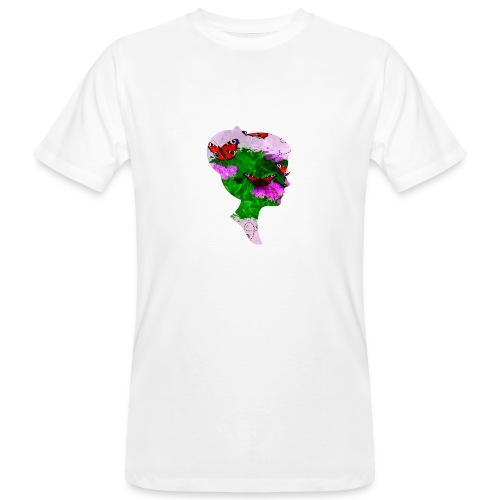 Schmetterling-Dame - Männer Bio-T-Shirt