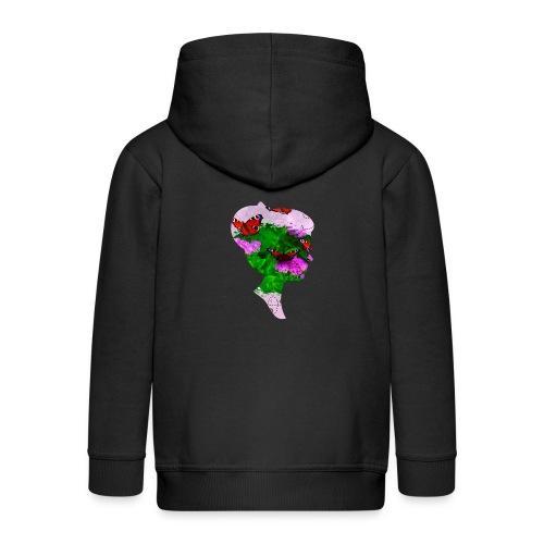Schmetterling-Dame - Kinder Premium Kapuzenjacke