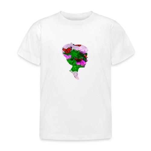 Schmetterling-Dame - Kinder T-Shirt