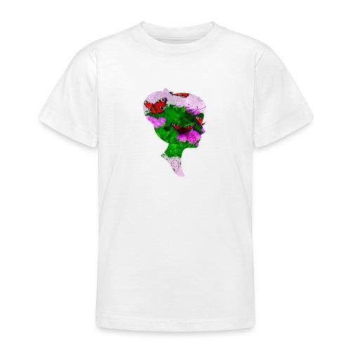 Schmetterling-Dame - Teenager T-Shirt