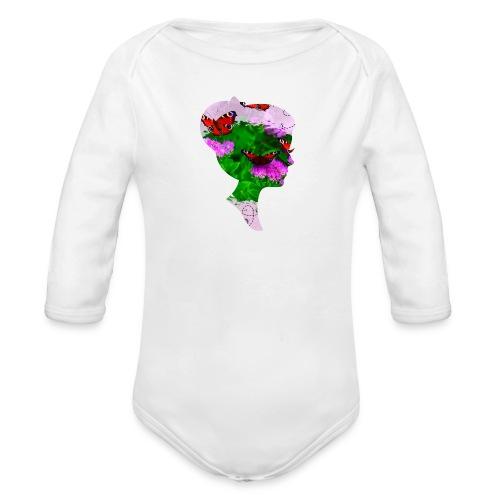 Schmetterling-Dame - Baby Bio-Langarm-Body