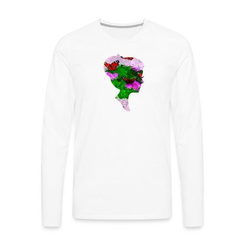 Schmetterling-Dame - Männer Premium Langarmshirt