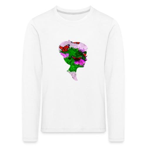 Schmetterling-Dame - Kinder Premium Langarmshirt