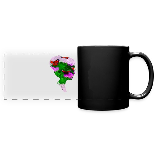 Schmetterling Dame - Panoramatasse farbig