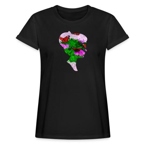 Schmetterling Dame - Frauen Oversize T-Shirt