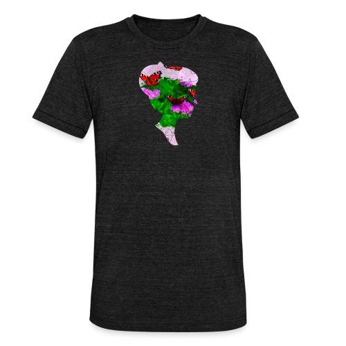 Schmetterling Dame - Unisex Tri-Blend T-Shirt von Bella + Canvas
