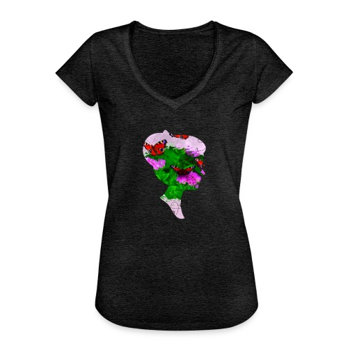 Schmetterling Dame - Frauen Vintage T-Shirt
