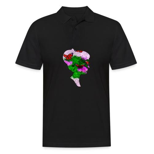 Schmetterling Dame - Männer Poloshirt