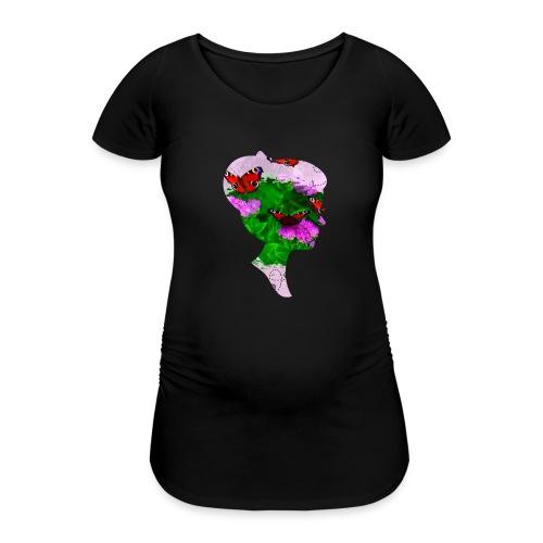 Schmetterling Dame - Frauen Schwangerschafts-T-Shirt