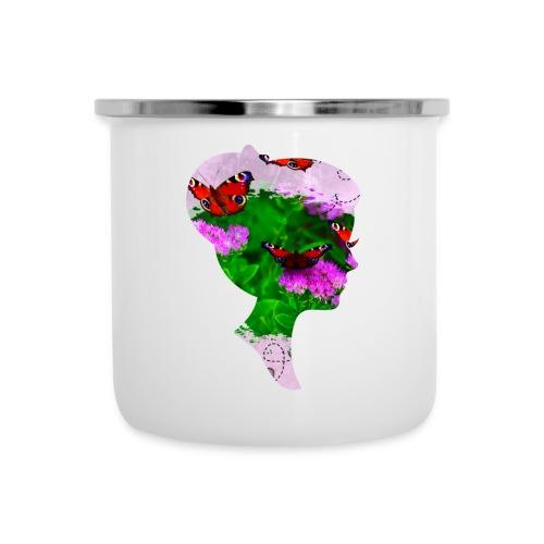 Schmetterling Dame - Emaille-Tasse