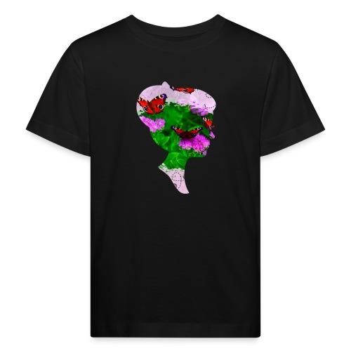 Schmetterling Dame - Kinder Bio-T-Shirt