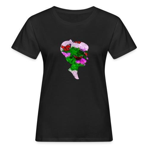 Schmetterling Dame - Frauen Bio-T-Shirt