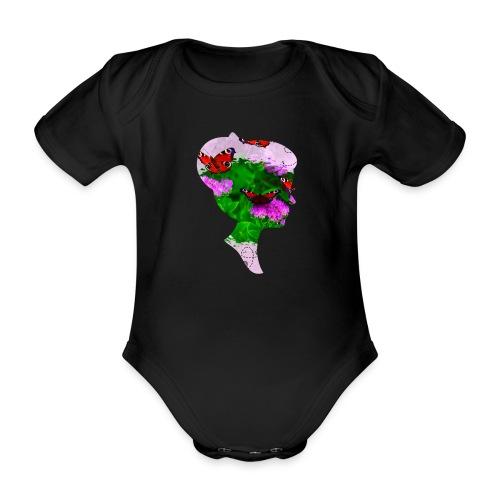 Schmetterling Dame - Baby Bio-Kurzarm-Body