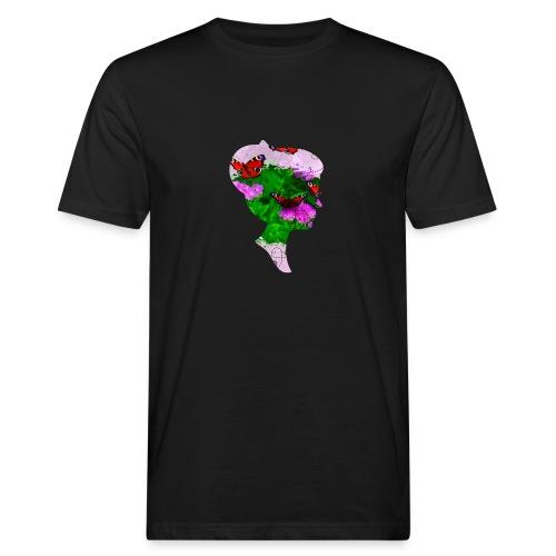 Schmetterling Dame - Männer Bio-T-Shirt