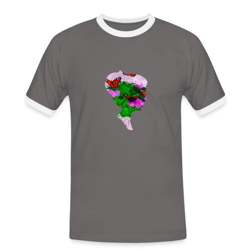 Schmetterling Dame - Männer Kontrast-T-Shirt