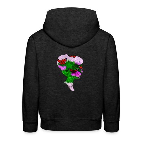 Schmetterling Dame - Kinder Premium Hoodie