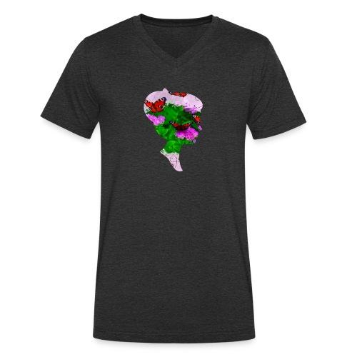 Schmetterling Dame - Männer Bio-T-Shirt mit V-Ausschnitt von Stanley & Stella