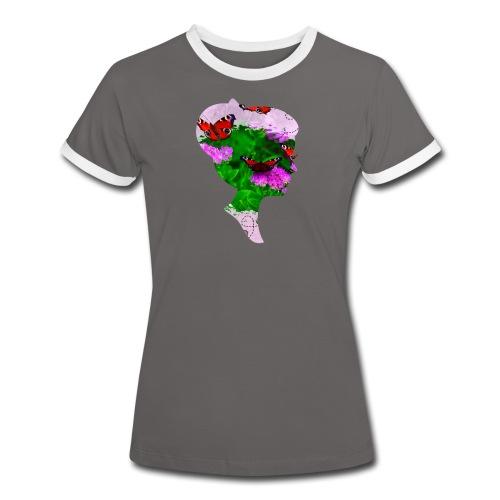 Schmetterling Dame - Frauen Kontrast-T-Shirt