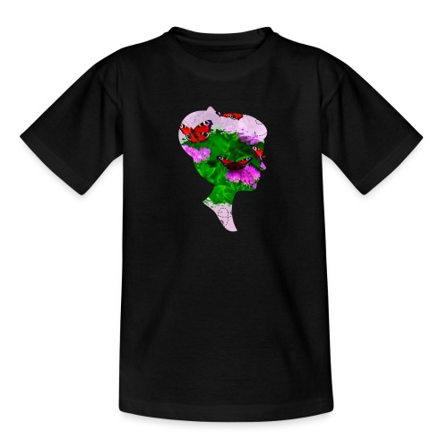Schmetterling Dame - Teenager T-Shirt
