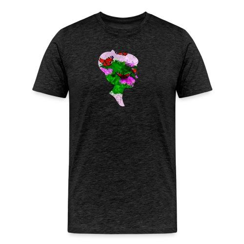 Schmetterling Dame - Männer Premium T-Shirt