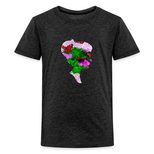 Schmetterling Dame - Teenager Premium T-Shirt