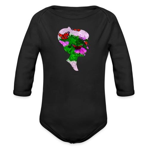 Schmetterling Dame - Baby Bio-Langarm-Body