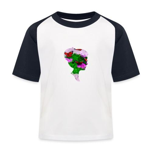 Schmetterling Dame - Kinder Baseball T-Shirt