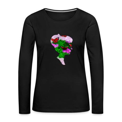 Schmetterling Dame - Frauen Premium Langarmshirt