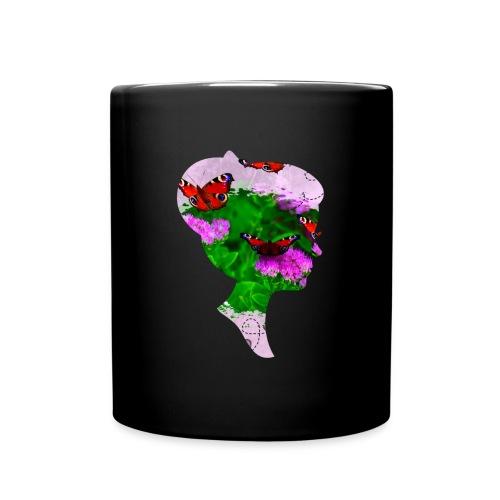 Schmetterling Dame - Tasse einfarbig