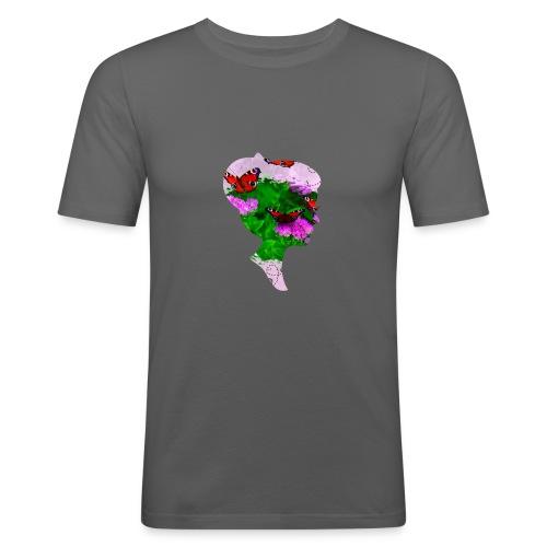 Schmetterling Dame - Männer Slim Fit T-Shirt