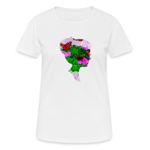 Schmetterling Dame - Frauen T-Shirt atmungsaktiv