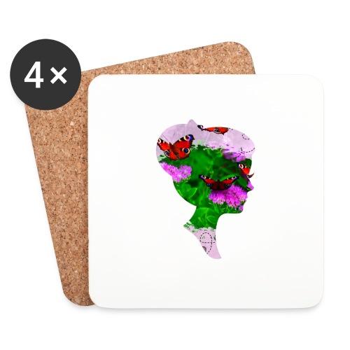Schmetterling Dame - Untersetzer (4er-Set)