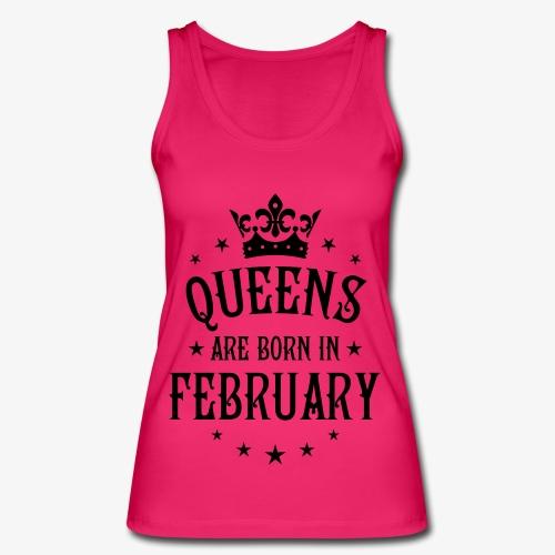 Queens are born in February Crown Legends Hoodie Kleid - Frauen Bio Tank Top von Stanley & Stella