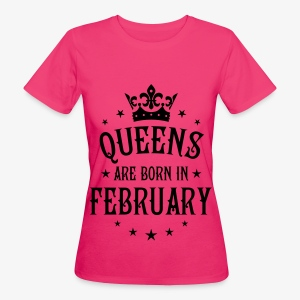 Queens are born in February Crown Legends Hoodie Kleid - Frauen Bio-T-Shirt