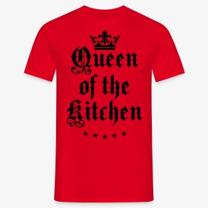 Queen of the Kitchen Cook Star Krone Crown Schürze 06 - Männer T-Shirt