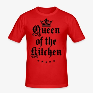 Queen of the Kitchen Cook Star Krone Crown Schürze 06 - Männer Slim Fit T-Shirt