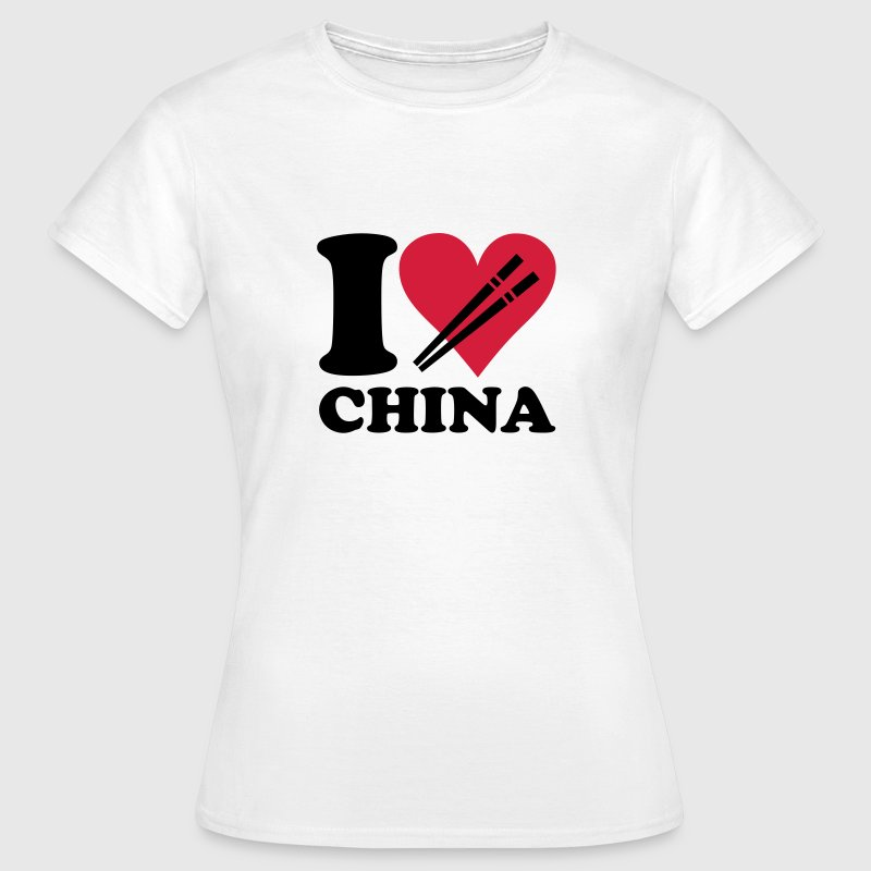 White China - I love China Women's T-Shirts - Women's T-Shirt