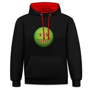 Evil Grin - Contrast Colour Hoodie