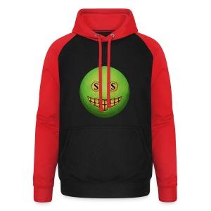 Evil Grin - Unisex Baseball Hoodie