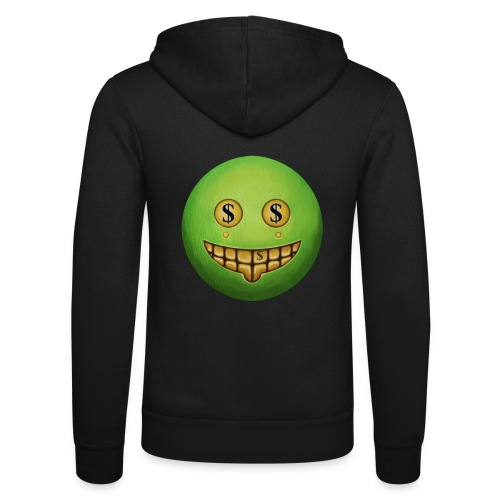 Evil Grin - Unisex Hooded Jacket by Bella + Canvas