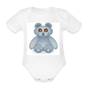 04 Roboted - Organic Short-sleeved Baby Bodysuit