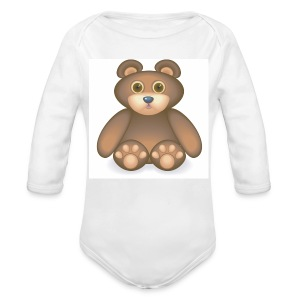 02 Ted - Organic Longsleeve Baby Bodysuit