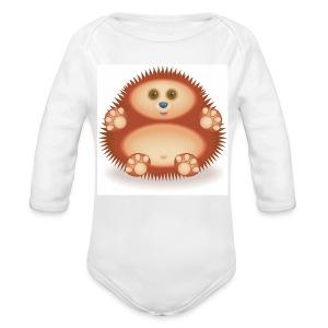01 Hedgehog - Organic Longsleeve Baby Bodysuit