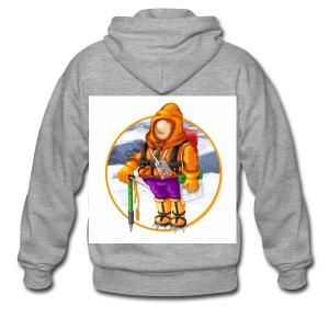 00_Mountain Mayhem Logo - Men's Premium Hooded Jacket