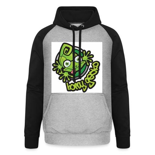 01 Horny Gecko Logo - Unisex Baseball Hoodie