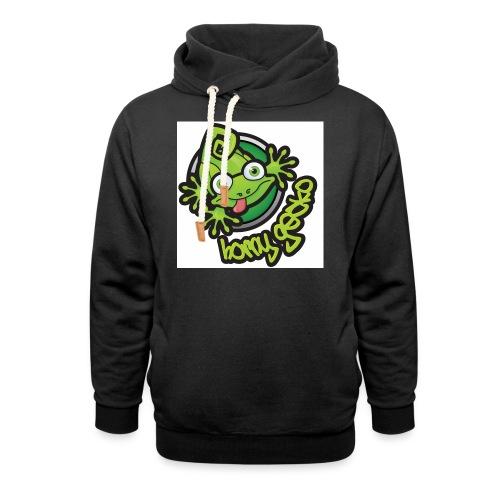 01 Horny Gecko Logo - Shawl Collar Hoodie